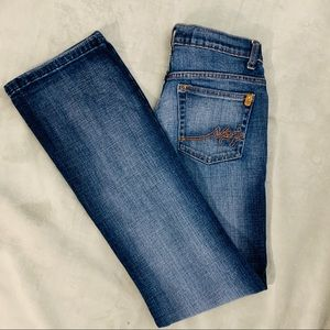 SOUTHPOLE Wide Flared Leg Distressed Jeans Size 7